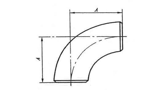 弯头结构图(短半径)-行业新闻-高压管件